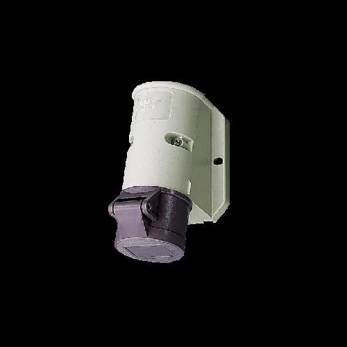 Ổ cắm công nghiệp gắn tường 16A-2P-20~25V-50 or 60Hz