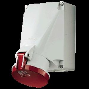 Ổ cắm công nghiệp gắn tường 63A-4P-400V-6H-IP44