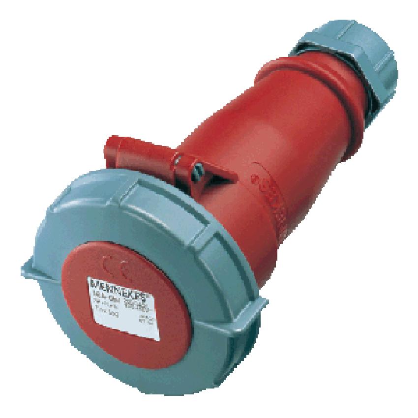 Đầu nối nguồn công nghiệp 16A-4P-400V-6H-IP67