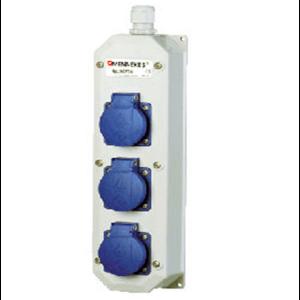 Ổ nối nguồn công nghiệp xúc an toàn 3 ổ 16A-2P + E-230V