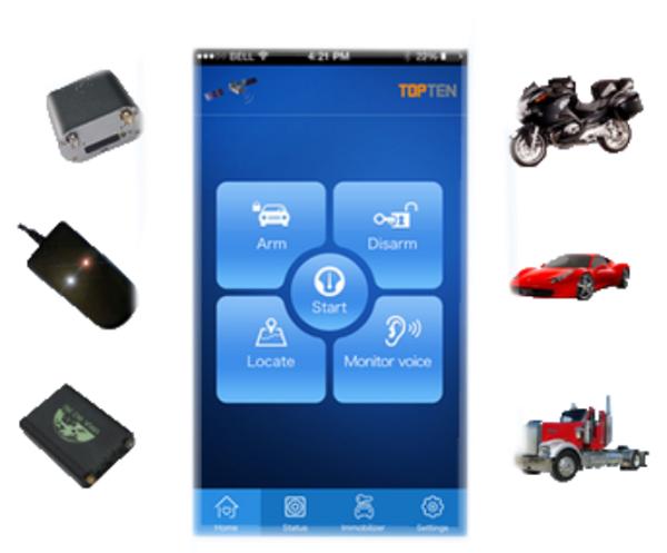 Định vị xe máy bằng điện thoại MT05