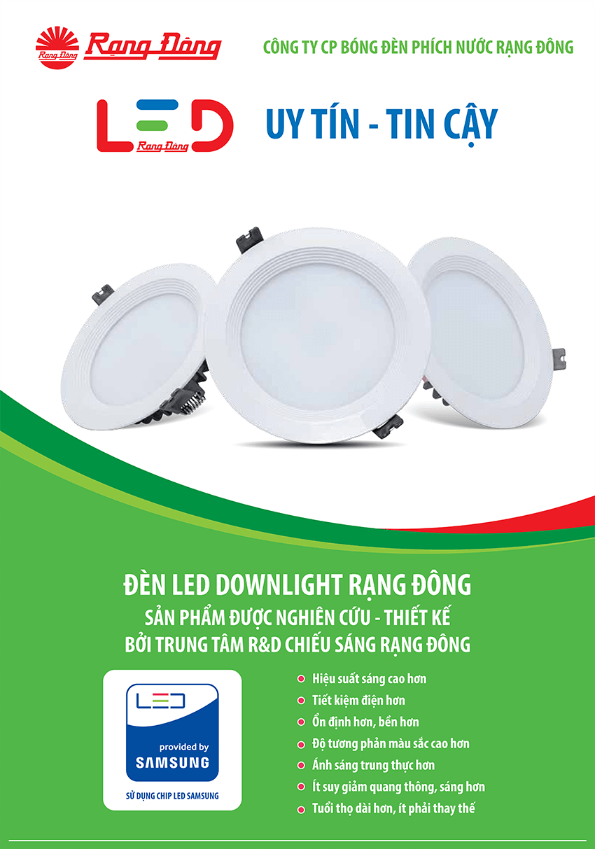 Đèn Led Downlight D AT02L DM 90/6W