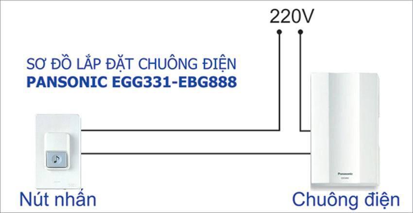 Chuông cửa panasonic EGG311 & EGB888