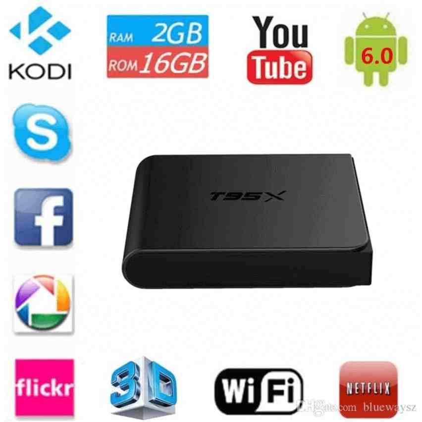 Android Tivi Box T95X - RAM 2G - ROM 8G