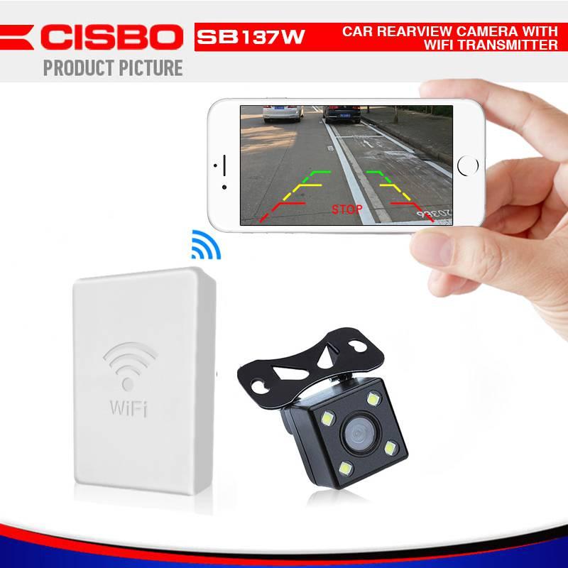 Camera lùi ô tô kết nối Wifi qua điện thoại