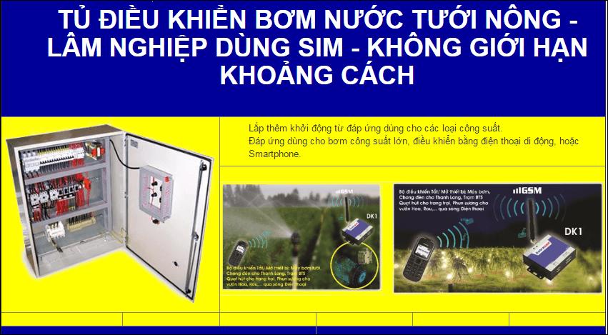 Điều khiển từ xa qua điện thoại dùng Sim DK1