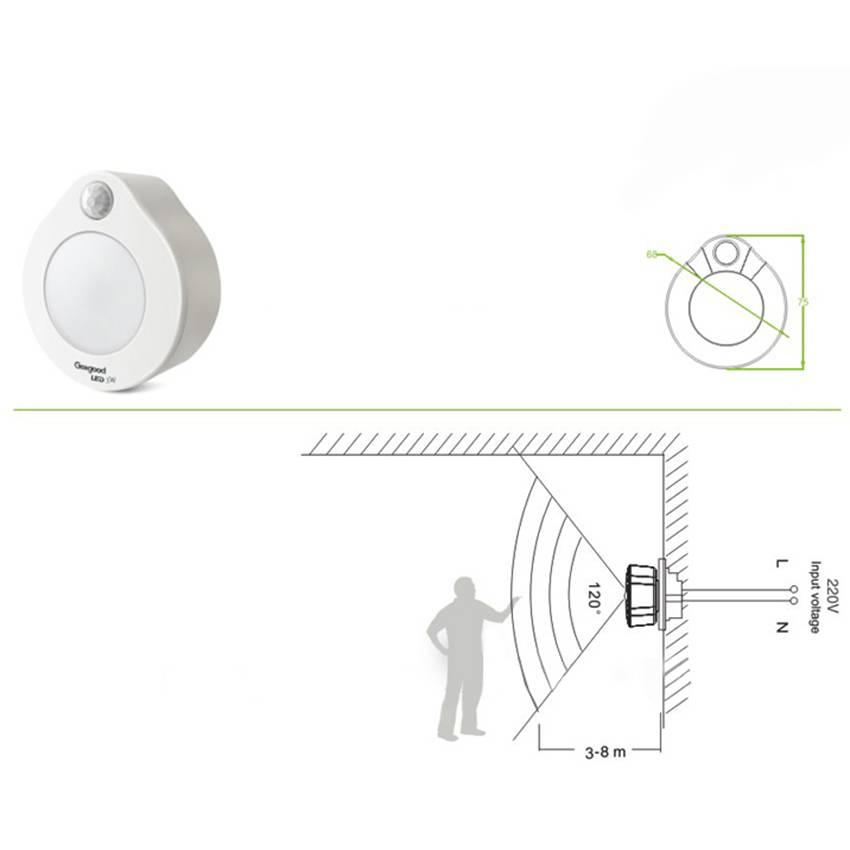 Đèn cảm ứng phích cắm KW-SS82B