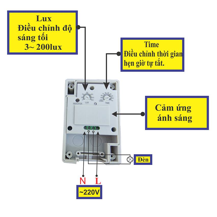 Công tắc cảm ứng ánh sáng KW - LS20A