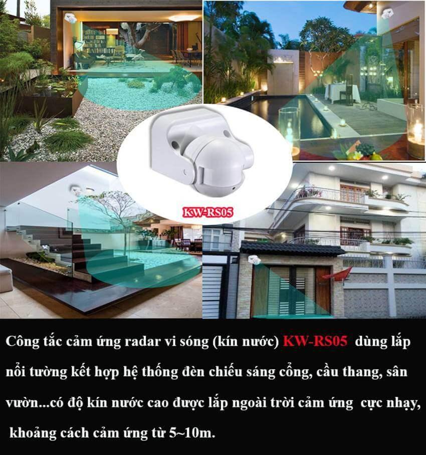 CÔNG TẮC CẢM ỨNG RADA VI SÓNG KW-RS05