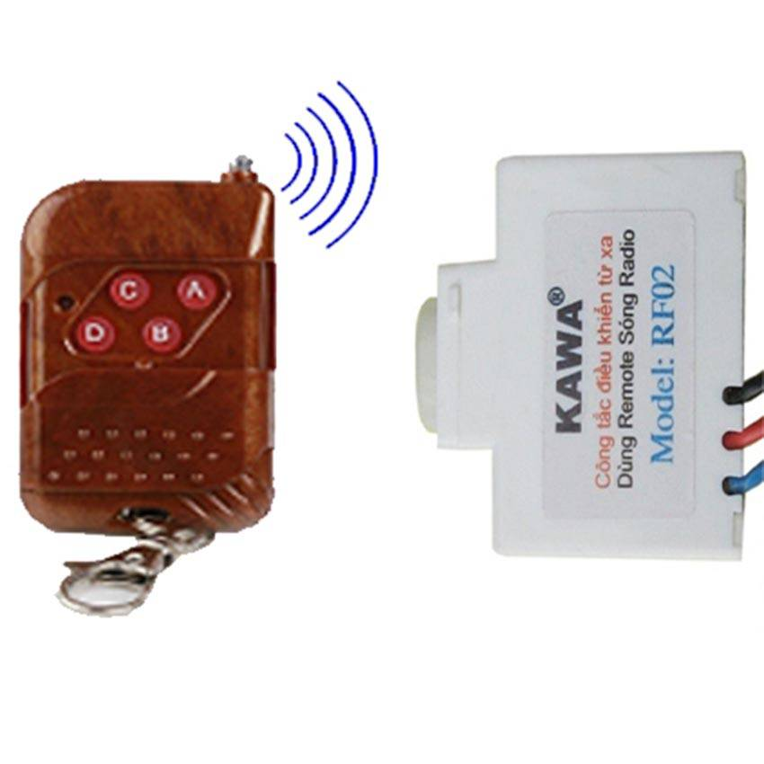 Bộ công Tắc Điều Khiển Từ Xa RF02S(P)N-4D-433 (Kèm Remote)