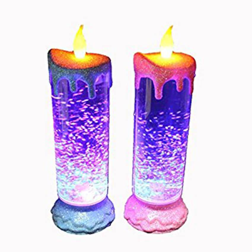 Đèn nến LED trang trí đầy màu sắc ánh sáng