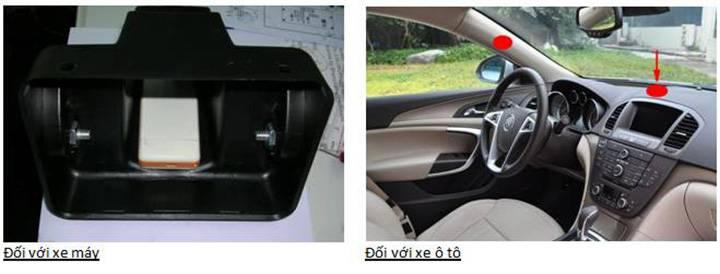 Vị trí lắp đặt Thiết bị định vị GPS, theo dõi vị trí toàn cầu cho ô tô, xe máy GT08 (Kèm thẻ RFID)