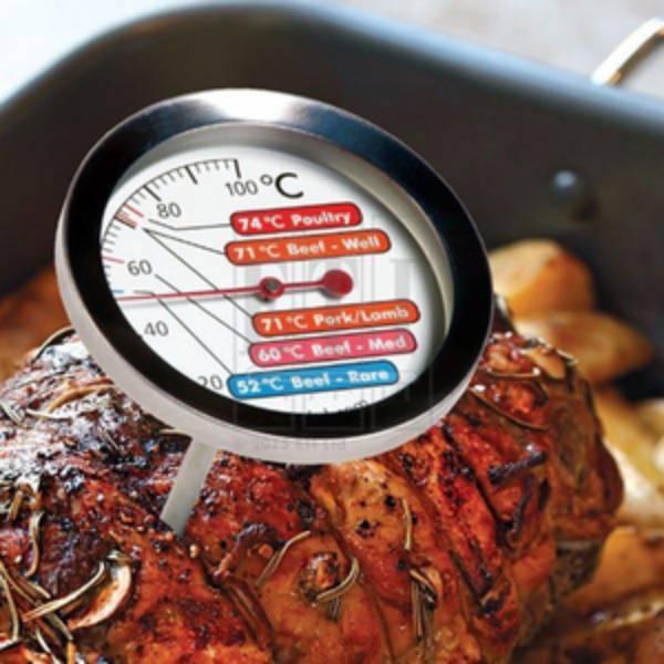 Nhiệt kế thịt với mặt thang đo 60mm đầu dò bằng thép không gỉ