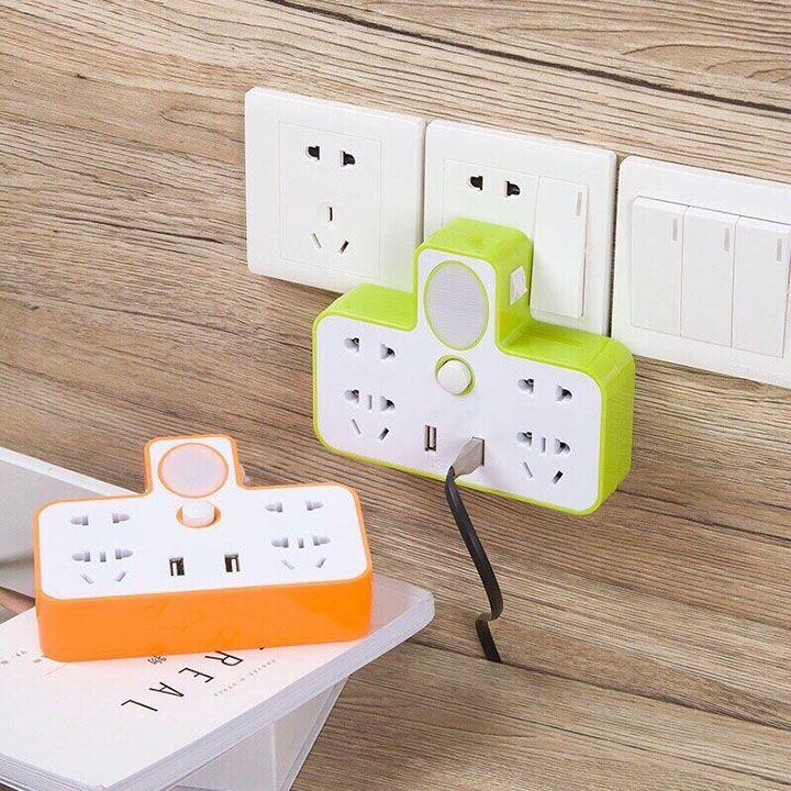 Bộ chuyển đổi ổ cắm điện đa năng kèm cổng USB
