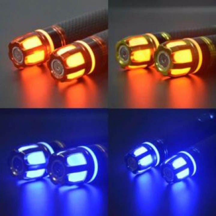 Gù xoay đầu tay lái xe máy có đèn led