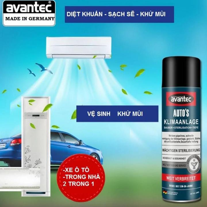 Bình xịt vệ sinh, diệt và kháng khuẩn cho máy lạnh Avantec